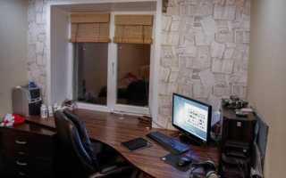 Столешница вместо подоконника в комнате