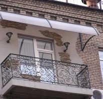 Козырек над балконом своими руками