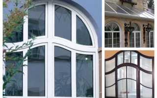 Формы пластиковых окон для частного дома