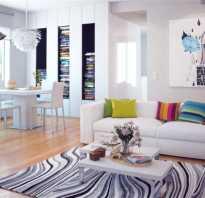 Дизайн гостиной с ковром