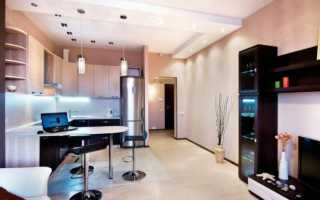 Дизайн кухни гостиной 18 кв м прямоугольной