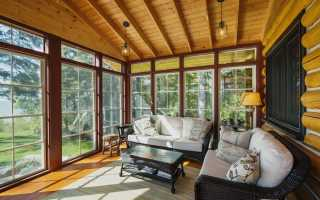Дачный домик с панорамными окнами