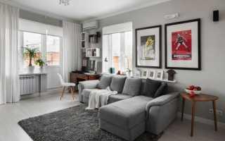 Дизайн гостиной с угловым диваном фото