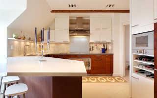 Дизайн кухни мансарды