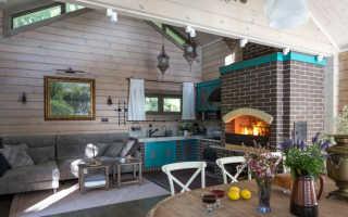 Дизайн кухни гостиной загородного дома