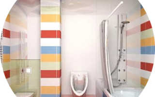 Дизайн ванной комнаты с туалетом в квартире