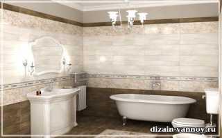 Дизайн ванной из керамогранита