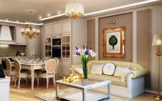 Дизайн гостиной столовой в классическом стиле