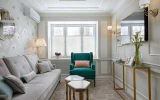 Дизайн длинной гостиной комнаты
