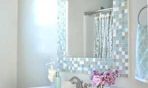 Декор зеркальной мозаикой