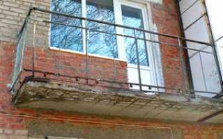 Укрепление балкона в панельном доме