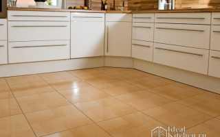 Дизайн кухни пола из плитки