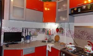 Дизайн кухни в оранжевом цвете фото