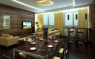 Дизайн интерьера столовой гостиной