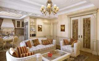 Дизайн кухни гостиной в классическом стиле фото