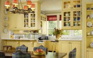 Дизайн кухни кантри фото
