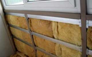 Чем утеплить балкон внутри