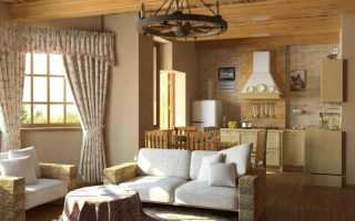 Дизайн деревенской гостиной