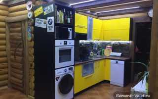 Дизайн кухни в частном деревянном доме