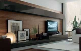 Дизайн гостиной с телевизором на стене