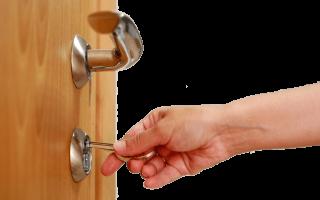 Закрылась межкомнатная дверь как открыть?
