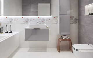 Дизайн ванной под бетон