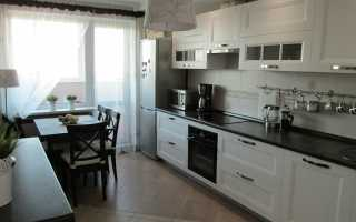Дизайн кухни в бело черном цвете