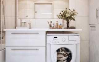 Дизайн ванной с кабиной и стиральной машиной