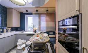 Дизайн кухни потолки 3 метра