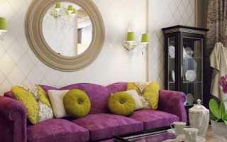 Дизайн над диваном в гостиной
