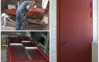 Как сварить дверь из профильной трубы?