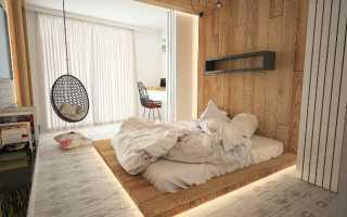 Вагонка в интерьере спальни