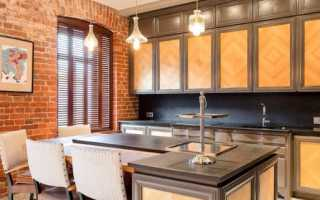 Дизайн кухни освещение