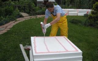 Чем приклеить пенопласт к бетону на стене