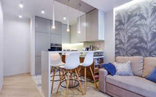 Дизайн небольшой кухни гостиной фото