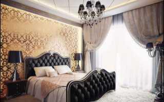 Спальня с темной мебелью дизайн