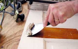 Как очистить деревянную дверь от старой краски?