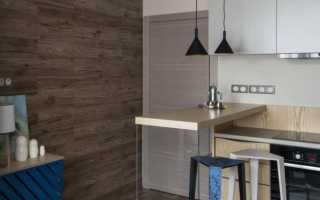 Дизайн гостиной с ламинатом на стене