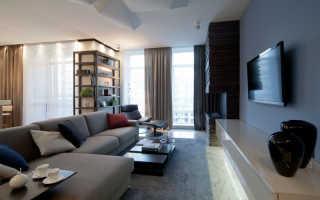 Дизайн гостиной со стенкой