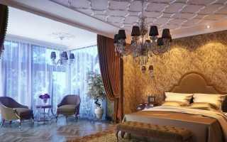 Спальня с эркером дизайн