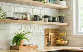Дизайн кухни полки