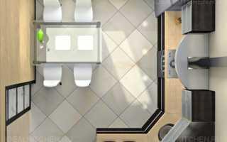 Дизайн кухни московской планировки