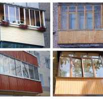 Отделка балкона с наружной стороны