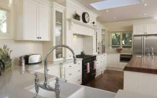 Дизайн кухни в белых тонах