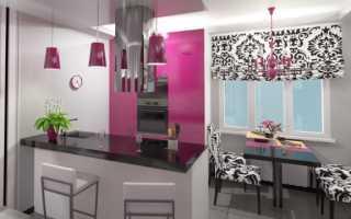 Дизайн кухни гостиной в квартире 18