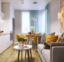 Дизайн гостиной с кухней 16 кв м