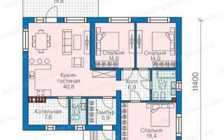 Проект одноэтажного дома с интерьером