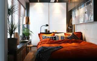 Узкая длинная спальня дизайн фото