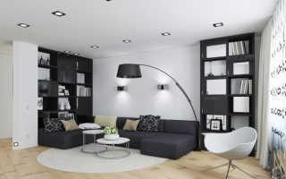 Дизайн гостиной с подсветкой