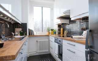 Дизайн кухни на две стены фото